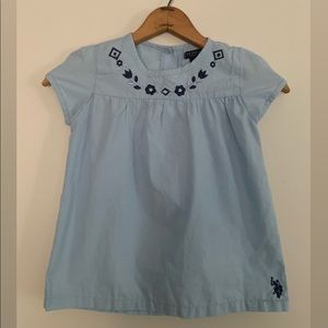 Polo Kids Blue floral boho shirt